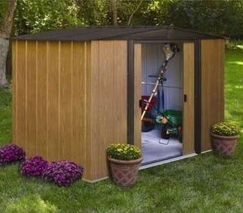 Abri de jardin en métal