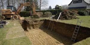 creuser piscine terrassement
