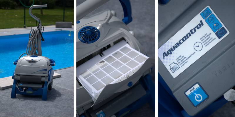 robot piscine top access