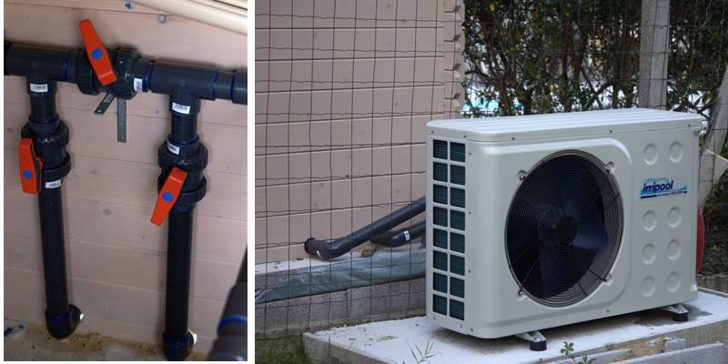 schema installation pompe a chaleur piscine