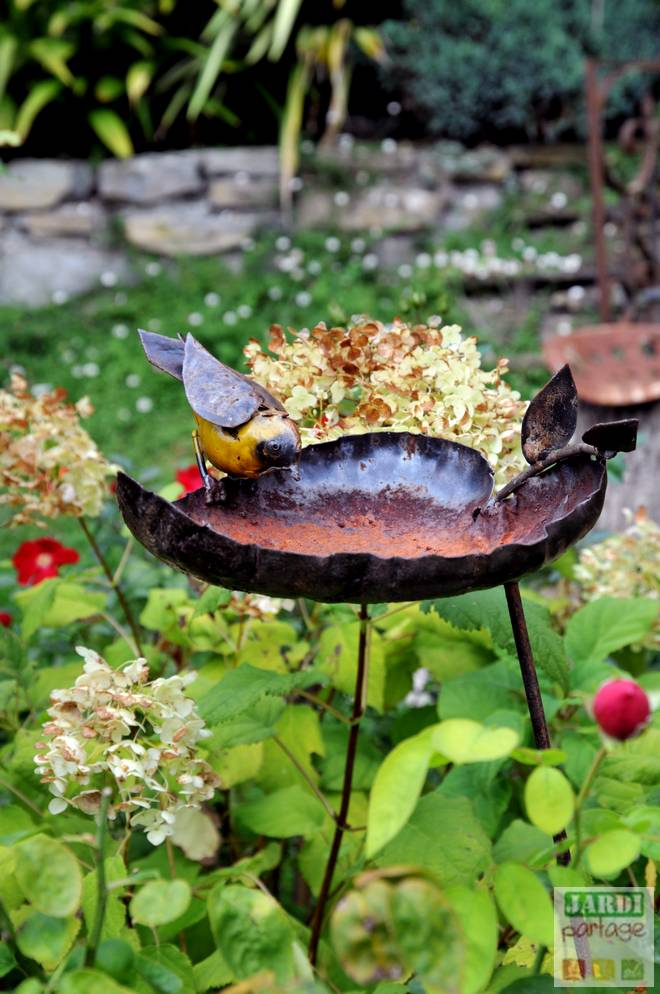 decoration jardin avec recup