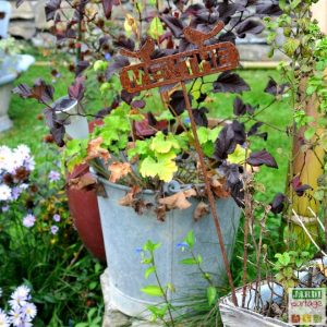 etiquette jardin avec recup