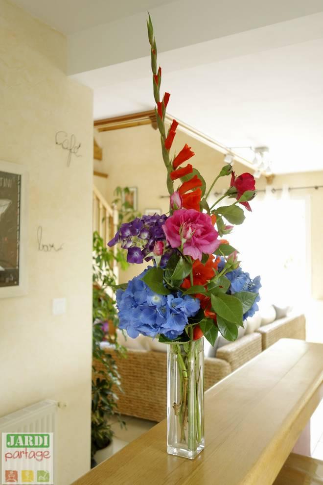 bouquet de glaieuls