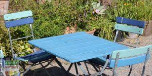 table de jardin sans entretien