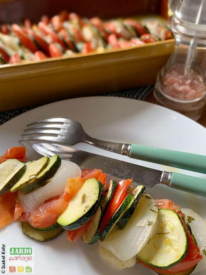 recette tian de legumes mozarella