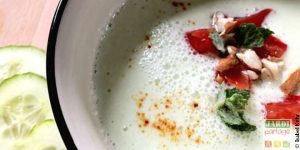Soupe de concombre froide