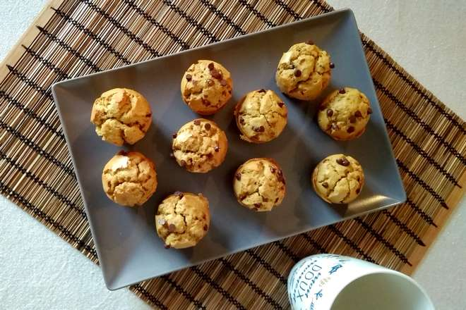 muffins sans gluten aux pepites de chocolat