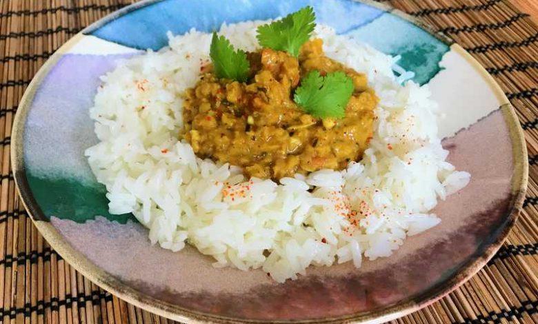 dhal lentilles corail coco curry