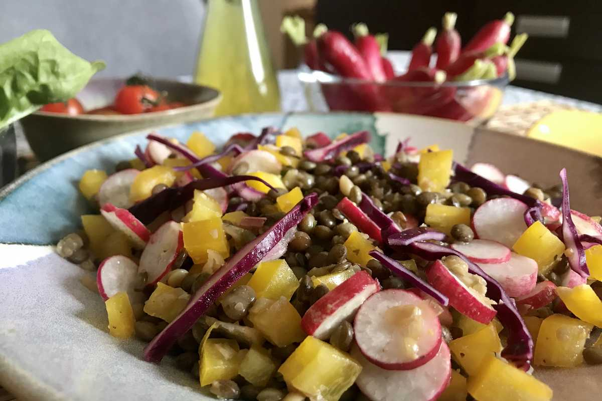 salade de lentilles vegetarienne