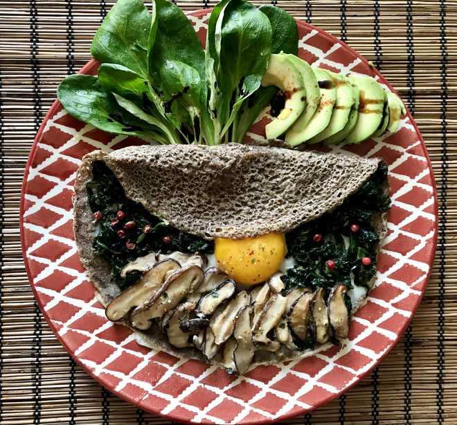 garniture galette sarrasin vegetarienne