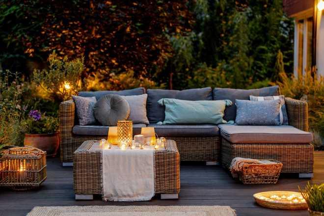 amenager un salon sur la terrasse
