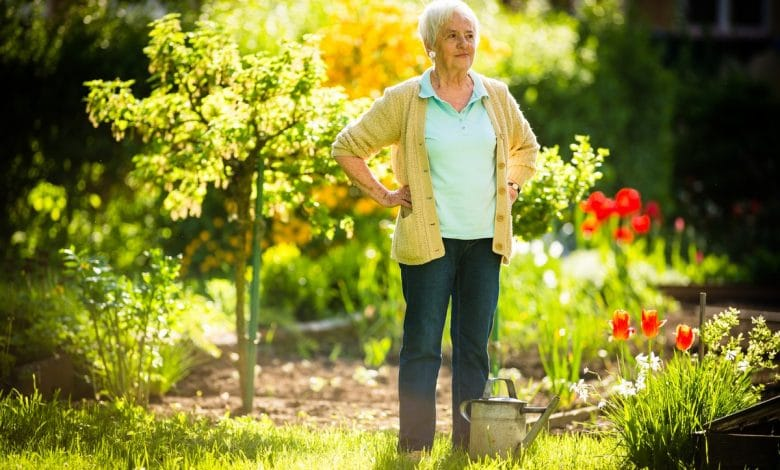 aide jardinage personne agée