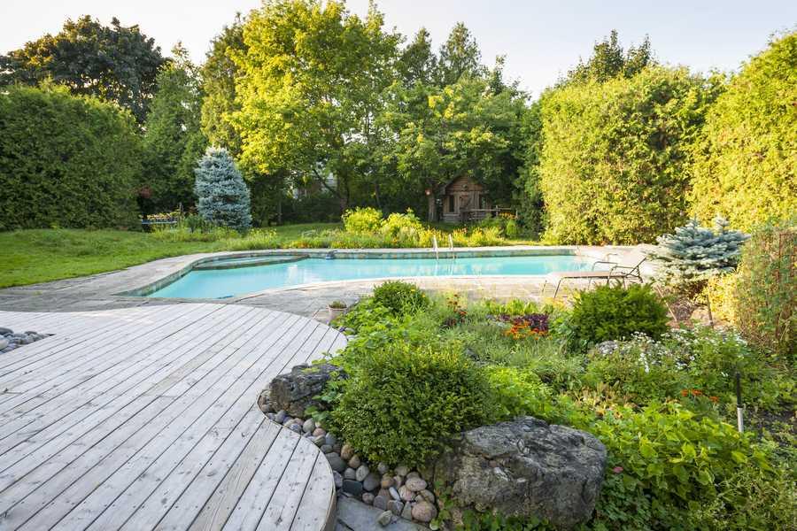 Des idées pour un aménagement paysager réussi autour d'une piscine