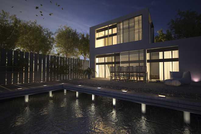 balisage terrasse piscine spots